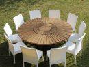 Table Ronde En Teck Real Table, Pour Le Jardin Et La Maison tout Tables De Jardin Rondes