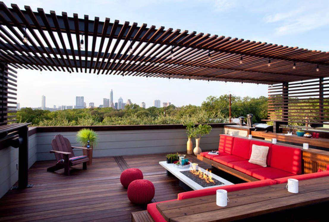 Terasımı Zarif Bir Şekilde Nasıl Dekore Edebilirim ... à Deco Design Jardin Terrasse