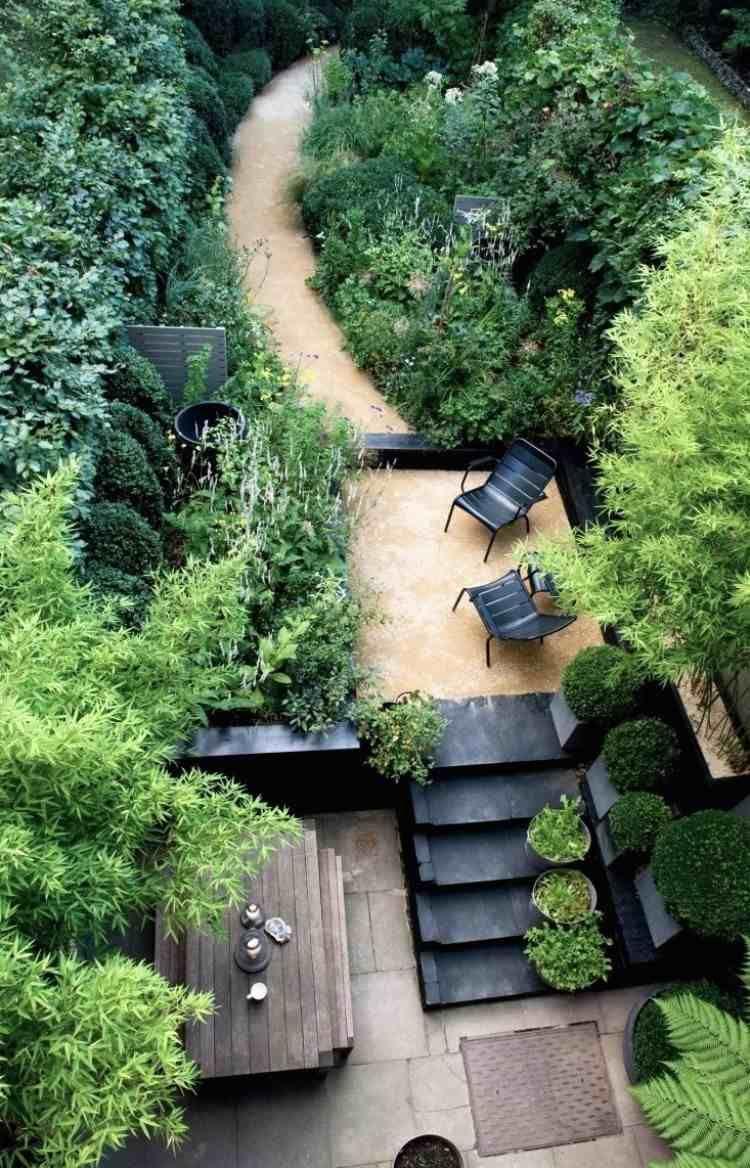 Terrasse De Jardin Moderne - Planification Et Conception ... concernant Pont De Jardin Bois