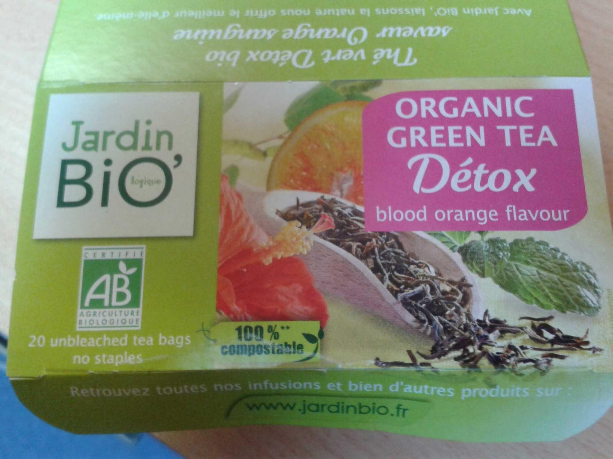 Thé Vert Detox Arôme Orange Sanguine - Jardin Bio - 30 G à Infusion Jardin Bio