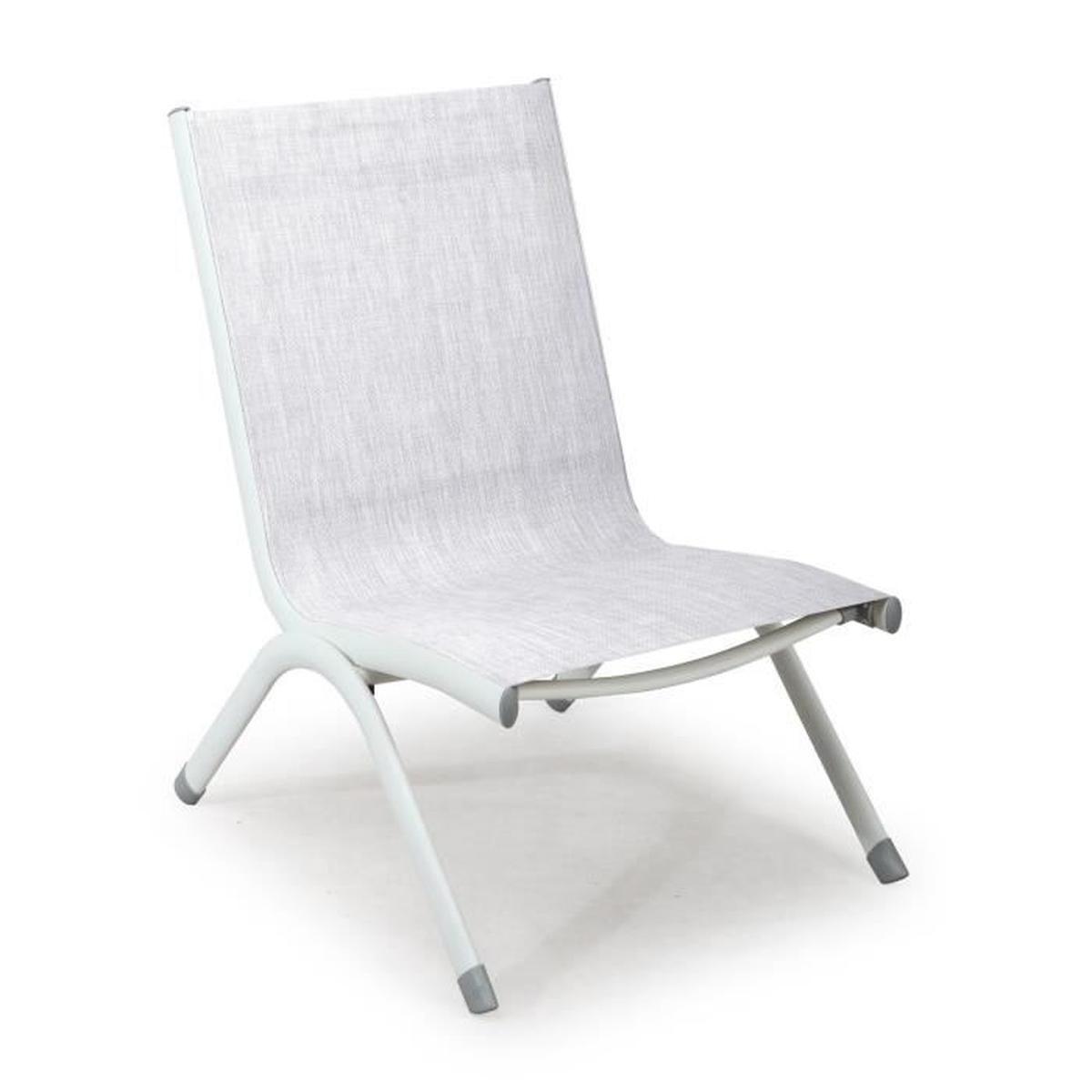 Toscane Chaise Basse De Jardin Taupe En Textilène - Achat ... dedans Chaise Basse De Jardin