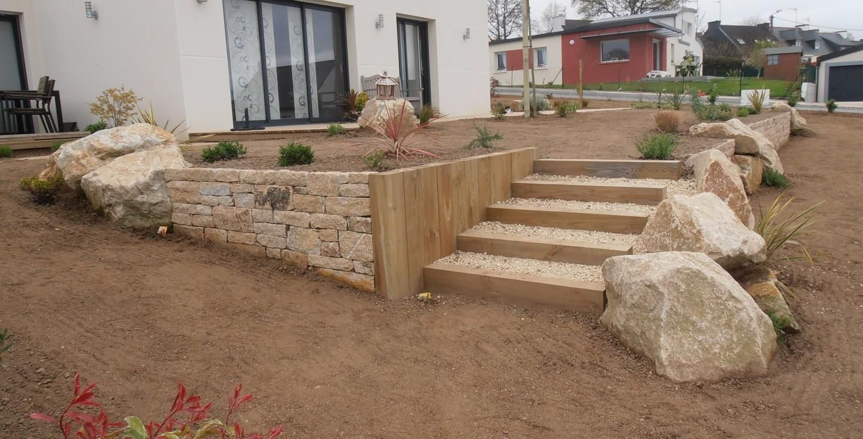Traverses Bois Et Escalier | Traverse Bois, Traverses Jardin ... dedans Traverse Bois Jardin