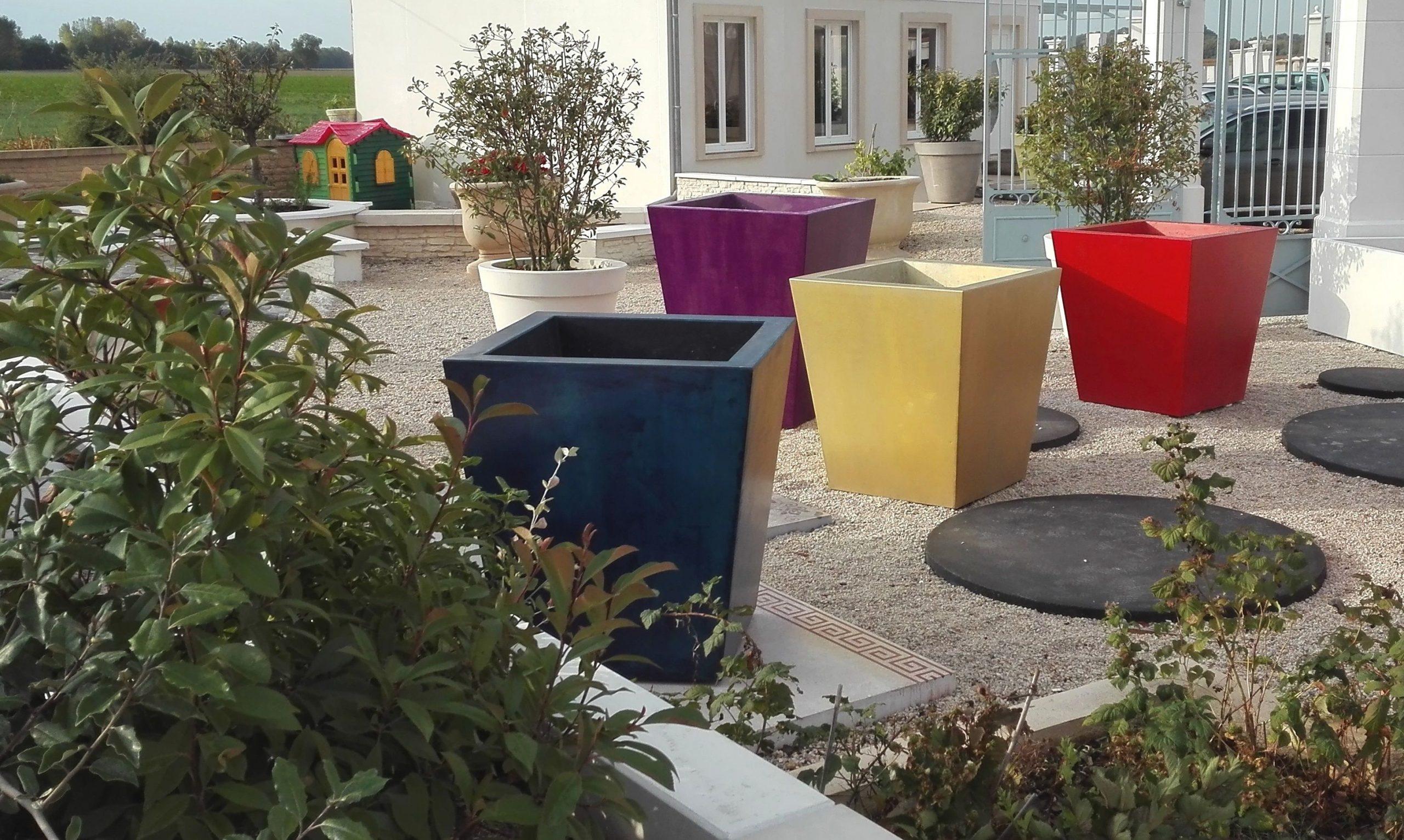 Très Grand Pot De Jardin (Pot De Fleurs Xxl, Pot De Fleurs ... intérieur Grand Pot Pour Jardin