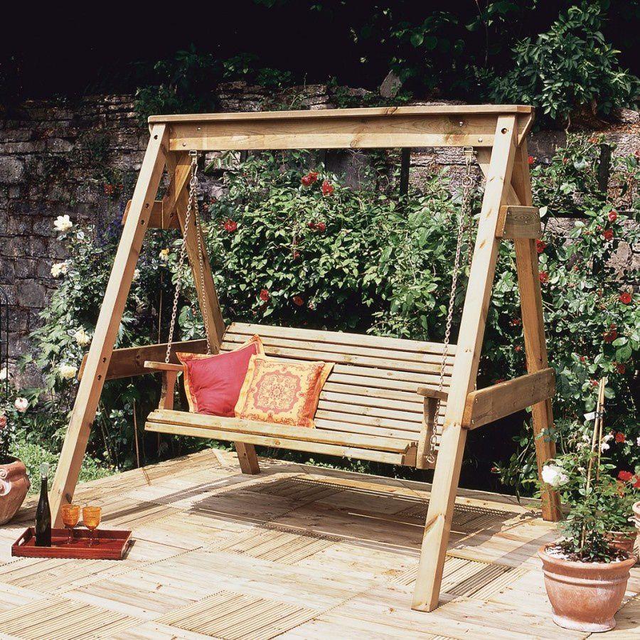 Une Balancelle Dans Le Jardin, De La Joie Pour Chacun ! - Le ... dedans Balancelle Jardin Bois