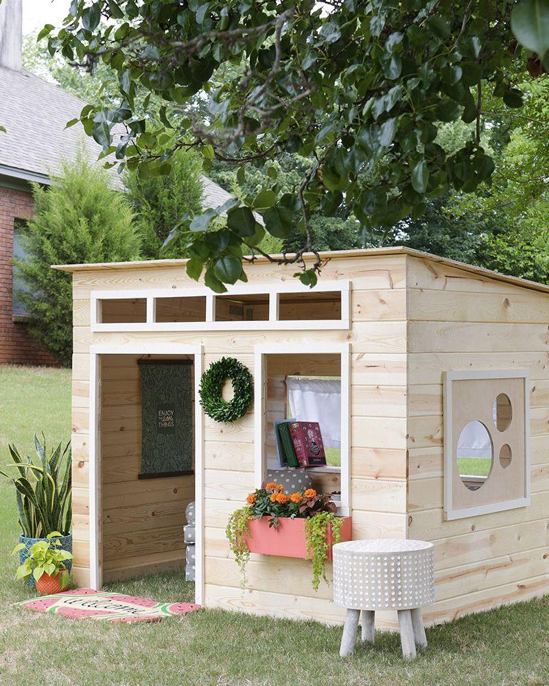 Une Cabane Diy Pour Les Enfants | Cabane Bois Enfant, Cabane ... serapportantà Maisonnette De Jardin En Bois