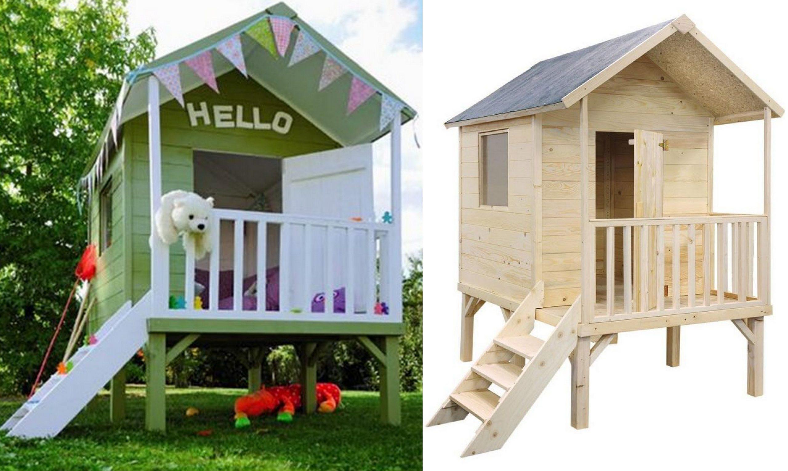 Une Cabane En Bois Pour Enfant À Prix Doux - Joli Place concernant Maisonnette De Jardin Enfant