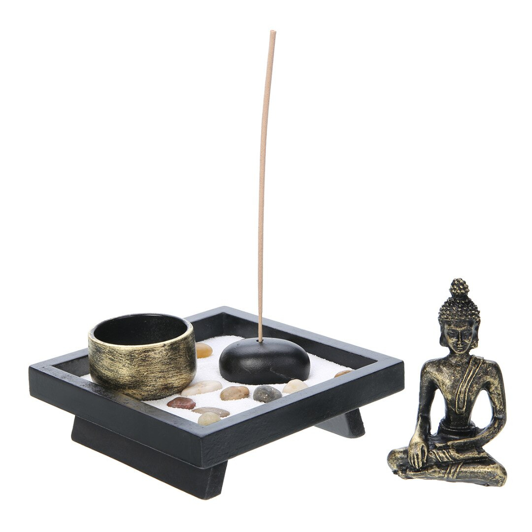 Us $9.93 32% Off|Ev Ve Bahçe'ten Parti Kendin Yap Süslemeleri'de Zen Bahçe  Kum Kiti Relax Ruhsal Meditasyon Dekor Buda Tealight Tutucu Bahçe Ofis ... intérieur Decor Jardin Zen
