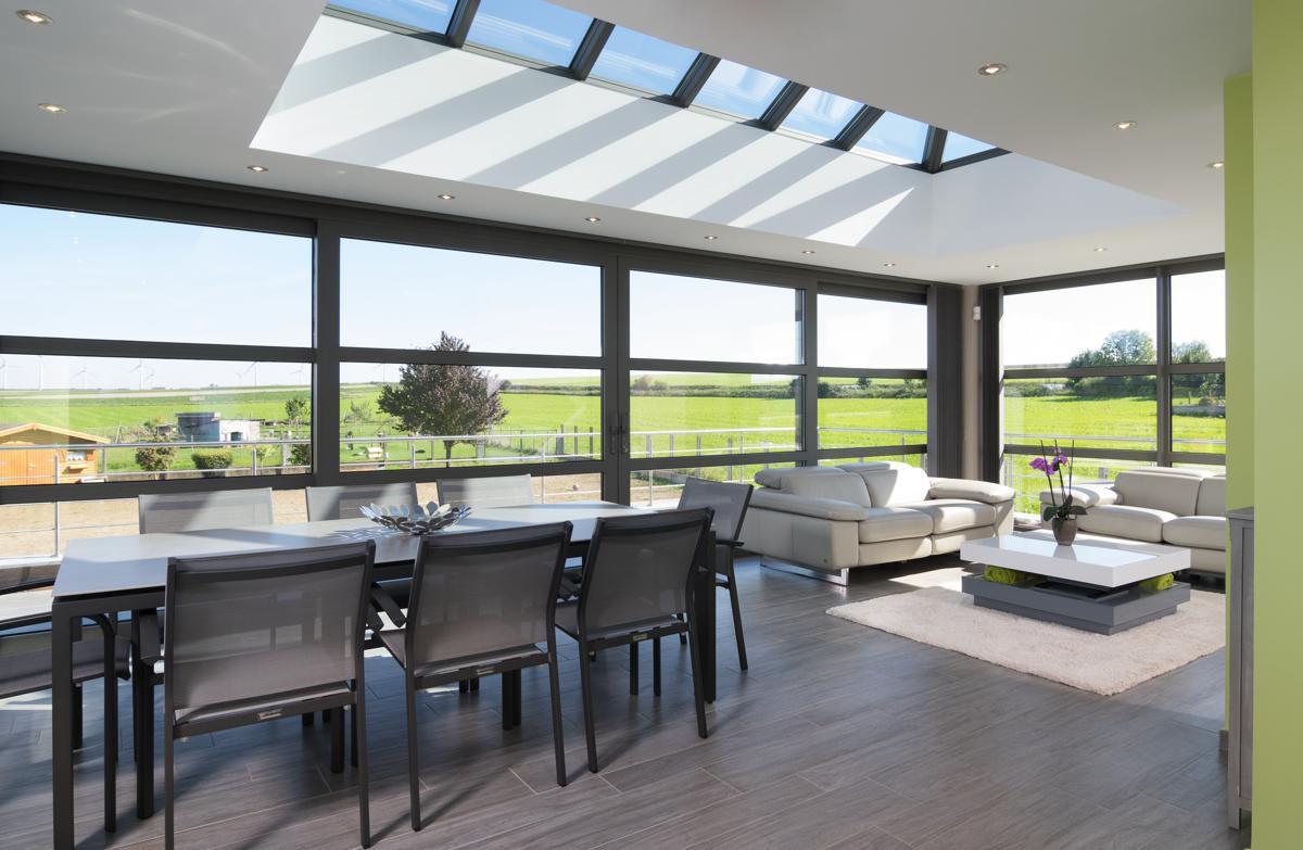 Véranda En Aluminium Design, Vérandas Alu, Hainaut, Tournai ... destiné Prix Pergola Aluminium Pour Terrasse Dans Le Hainaut