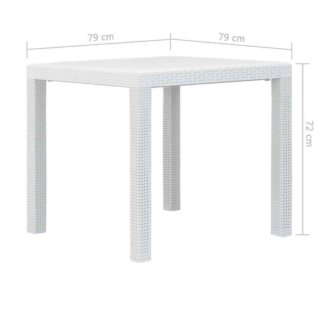 Vidaxl Table De Jardin Blanc 220X90X72 Cm Plastique Aspect ... avec Table De Jardin Plastique