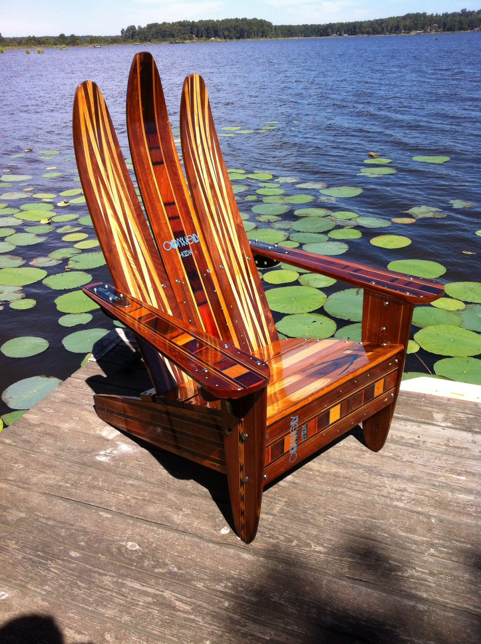 Water Ski Adirondack Chair | Plastic Patio Chairs, Cottage ... serapportantà Fauteuil Adirondack Occasion