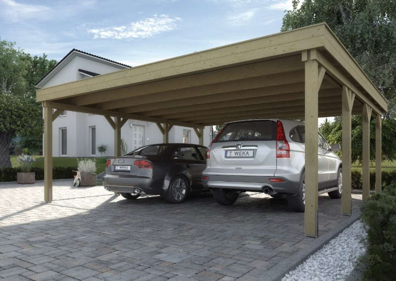 Weka Carport Garden Storage & Housing Konozsigns dedans Weka Carport