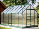 Serre Polycarbonate Vert 10.37 M² - Habrita destiné Serre En Polycarbonate